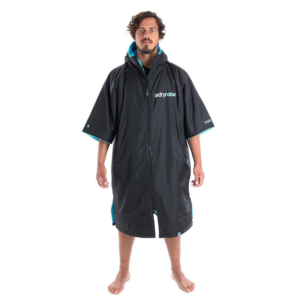 Dryrobe Dryrobe Advance Short Sleeve Changing Robe | Black & Blue - TVSC