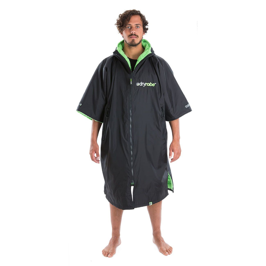 Dryrobe Dryrobe Advance Short Sleeve Black/Green Adults Large - TVSC