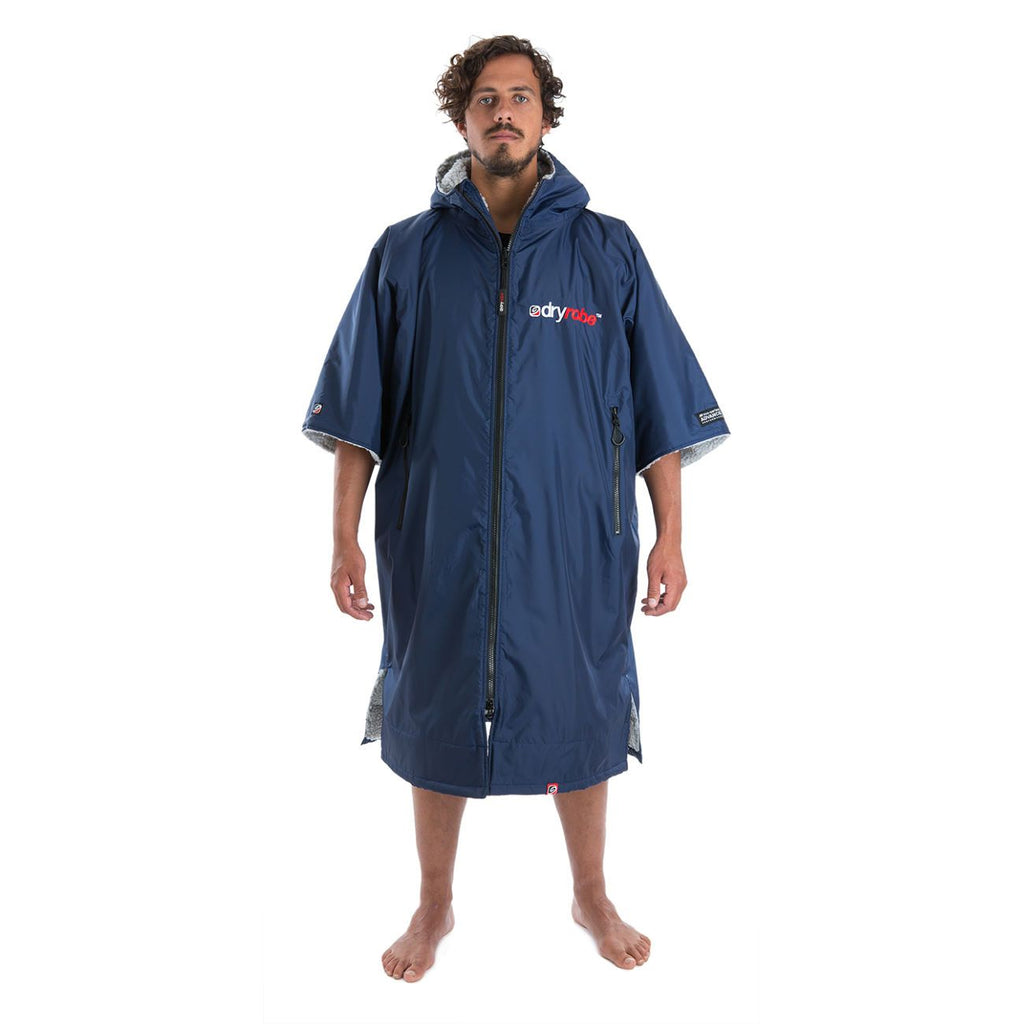 Dryrobe Dryrobe Advance Short Sleeve Changing Robe | Navy & Grey - TVSC