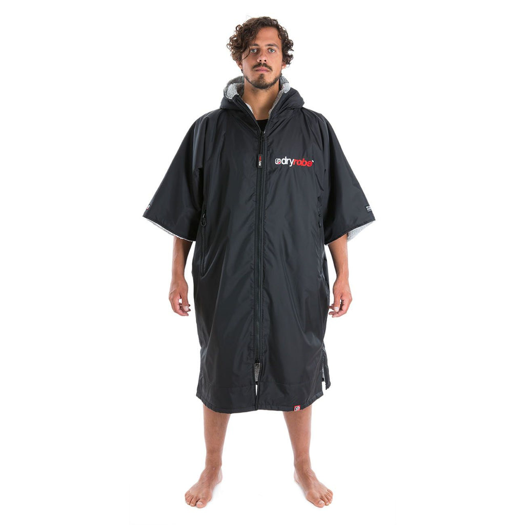 Dryrobe Dryrobe Advance Short Sleeve Changing Robe | Black & Grey - TVSC