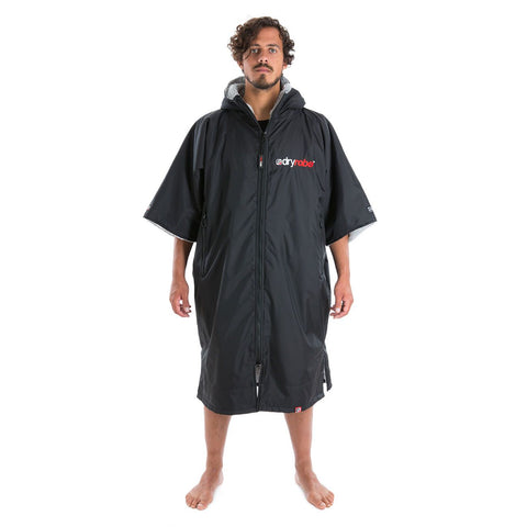 Dryrobe Dryrobe Advance Short Sleeve Black/Grey Adults Large - TVSC
