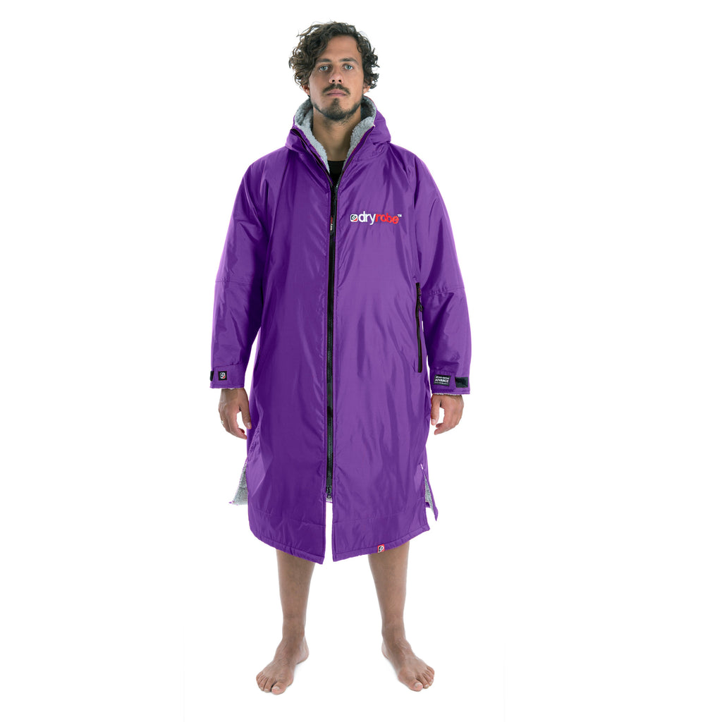 Dryrobe Dryrobe Advance Long Sleeve Changing Robe | Purple & Grey - TVSC