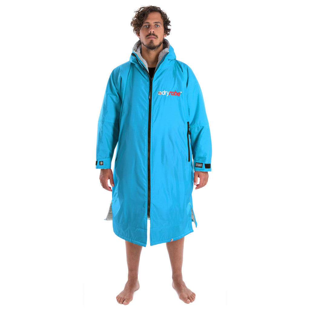 Dryrobe Dryrobe Advance Long Sleeve Changing Robe | Sky Blue & Grey - TVSC