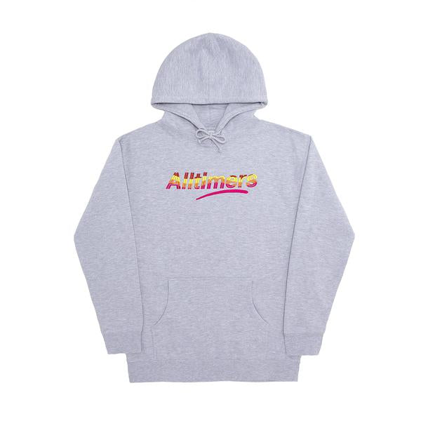 Alltimers Embroided Wave Estate Hoodie | Heather Grey