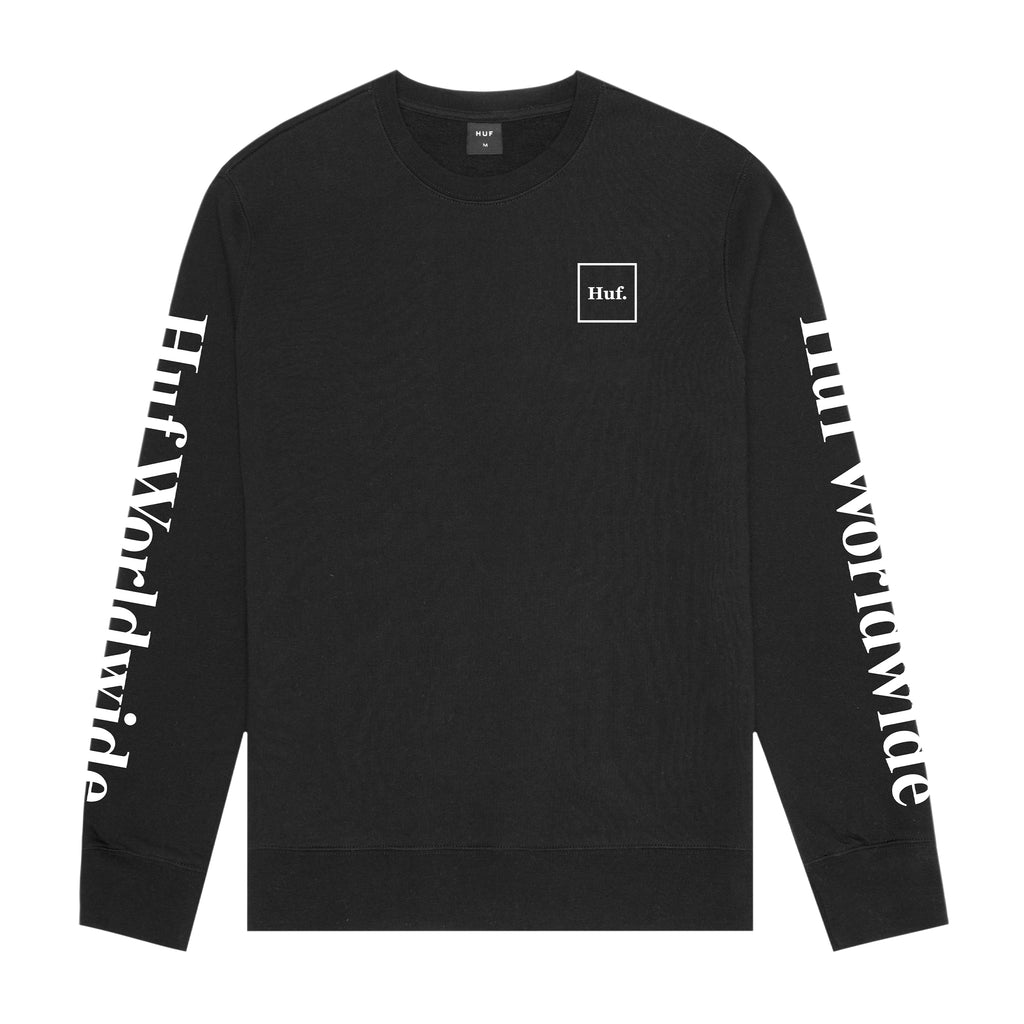 HUF HUF Essentials Domestic Crew | Black - TVSC