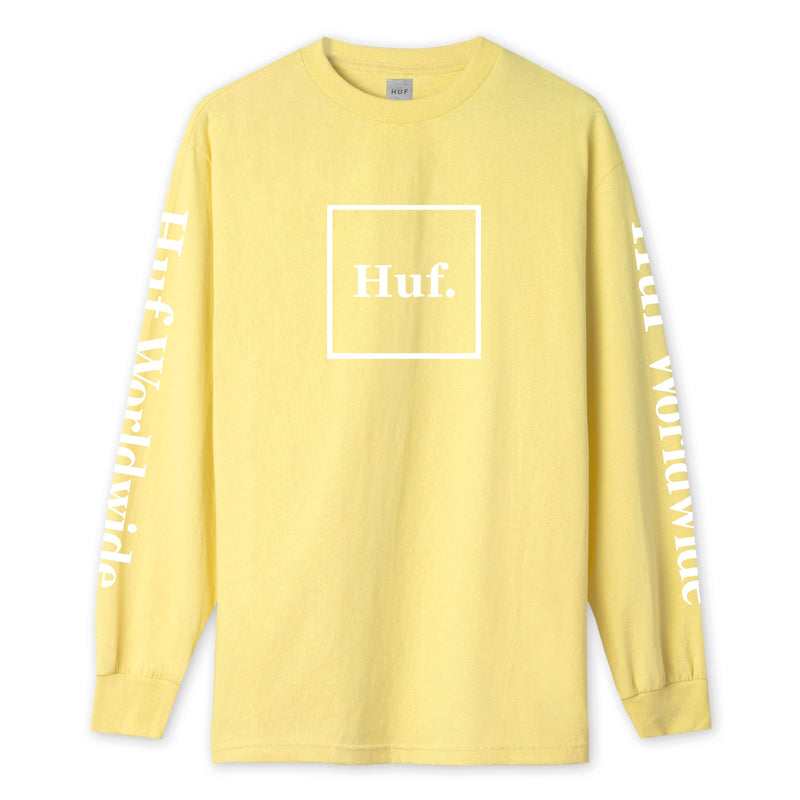 HUF Essentials Domestic Long Sleeve T-Shirt | Yellow