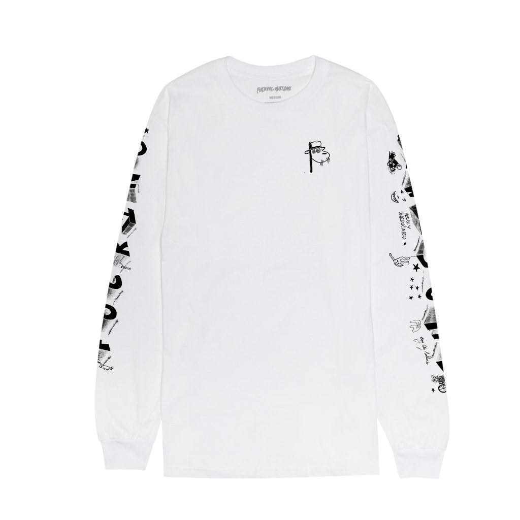 Fucking Awesome Fucking Awesome Block Letters L/S T-Shirt | White - TVSC