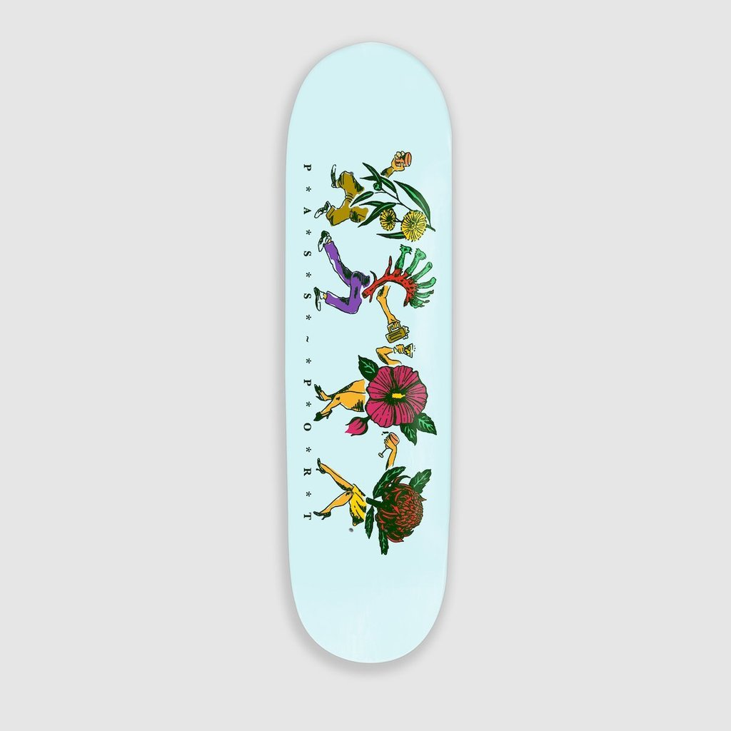 "Pass~Port Pass~Port Floral Friends Skateboard Deck Sky Blue | 8.125"" - TVSC"