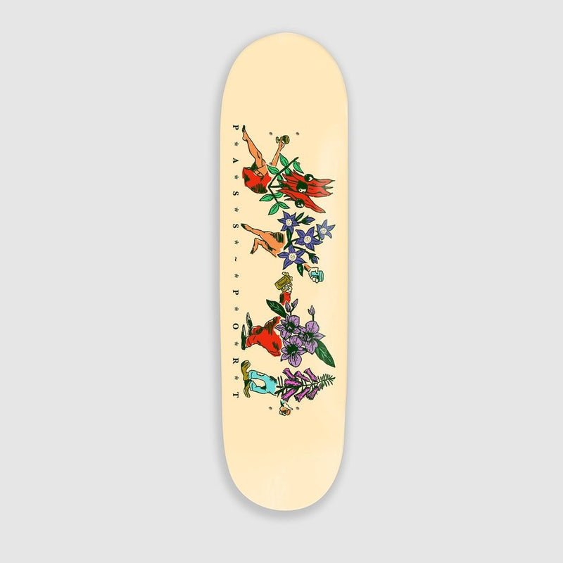 Pass~Port Pass~Port Floral Friends Skateboard Deck Vanilla | 8.25