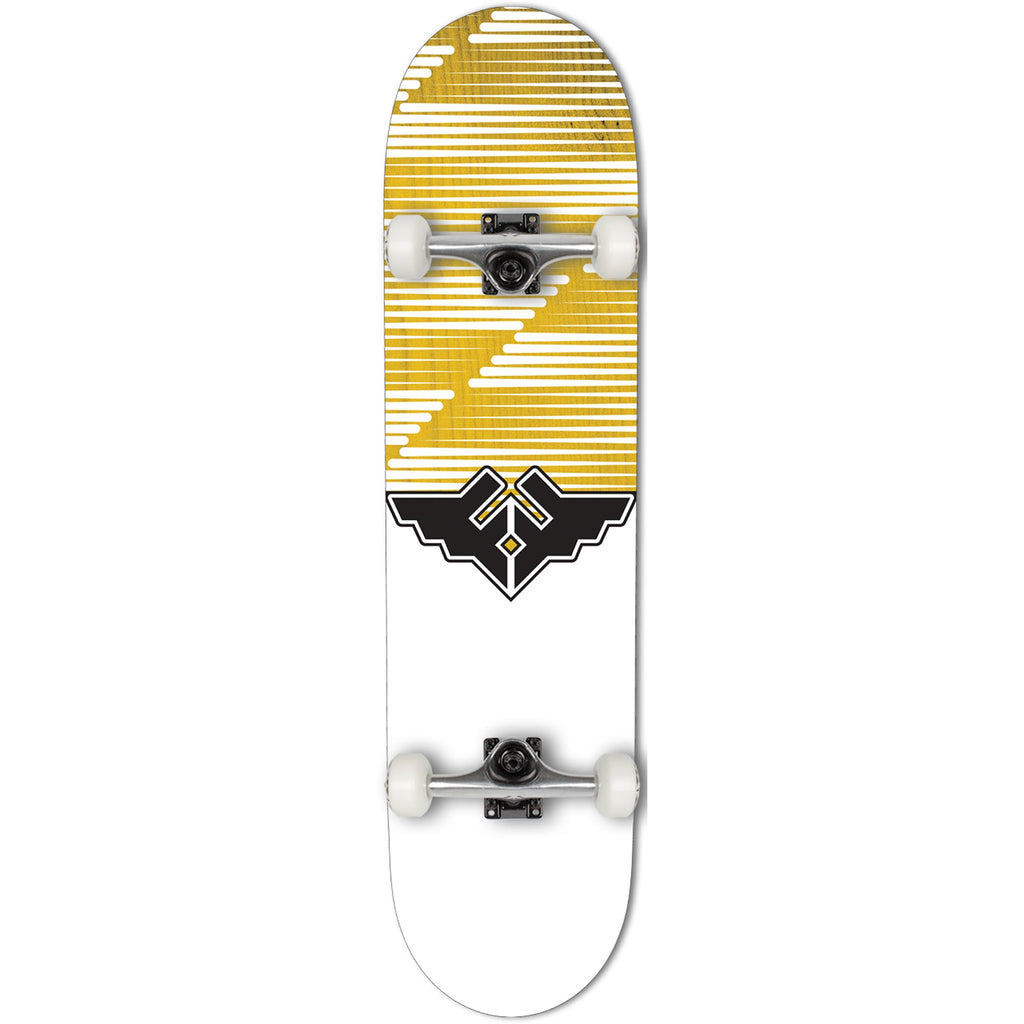 Fracture Skateboards Wings V2 Complete Skate Board Yellow | 8""