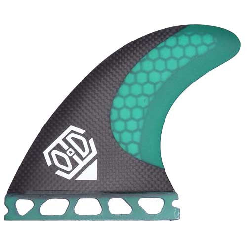 Obsessive-Disorder G5 Honeycomb & Carbon Futures Fin Set Green - TVSC