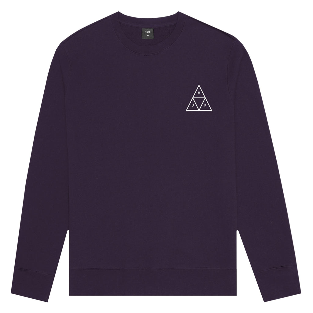 HUF HUF Essentials TT Crew | Purple - TVSC