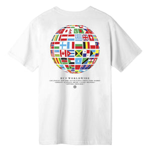 HUF Global Wave S/S T-Shirt | White