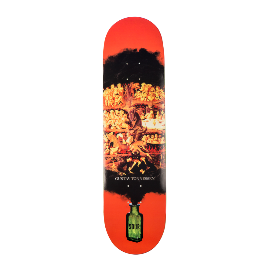 "Sour Solution Sour Solution Gustav Hell Skateboard Deck | 8.375"" - TVSC"