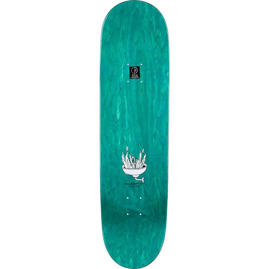 "Polar Polar Skate Co Hjalte Halberg Burning Zinc Deck | 8.5"" - TVSC"