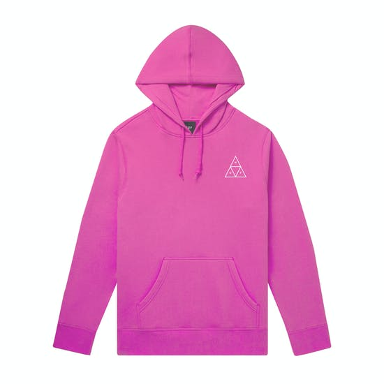 HUF Essentials Triple Triangle hoodie | Hot Pink