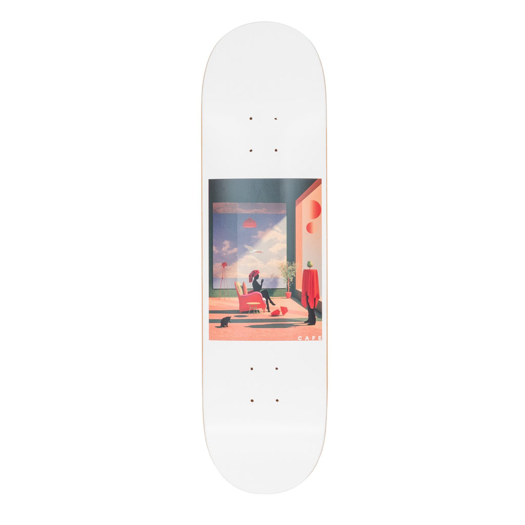 "Skateboard Cafe Skateboard Cafe Dawn Deck White | 8.25"" - TVSC"