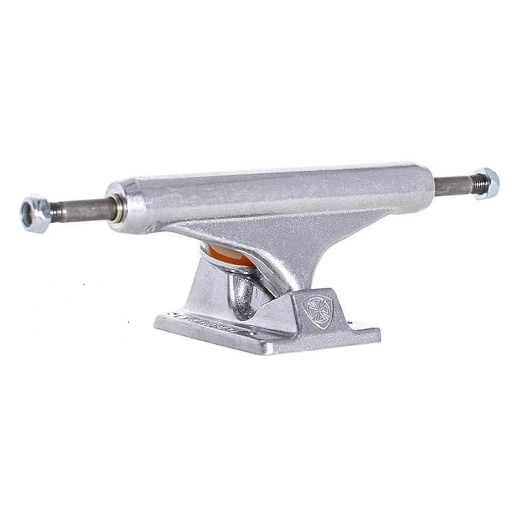 Independent Mid Skateboard Trucks Polished Silver Pair | 144mm