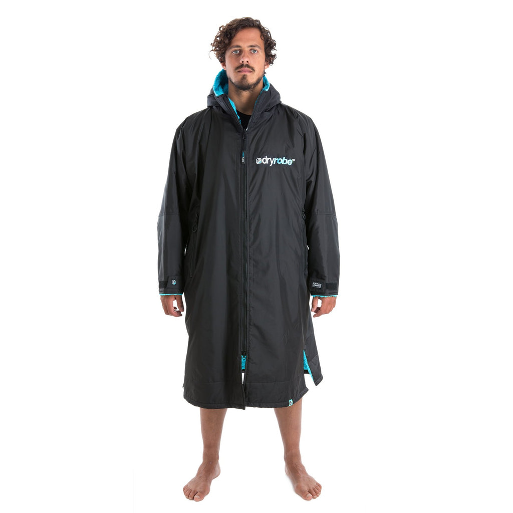 Dryrobe Dryrobe Advance Long Sleeve Changing Robe | Black & Blue - TVSC