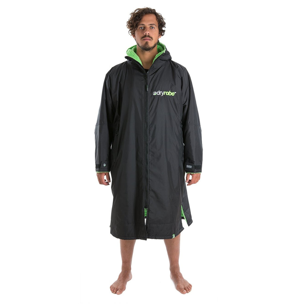 Dryrobe Dryrobe Advance Long Sleeve Changing Robe | Black & Green - TVSC