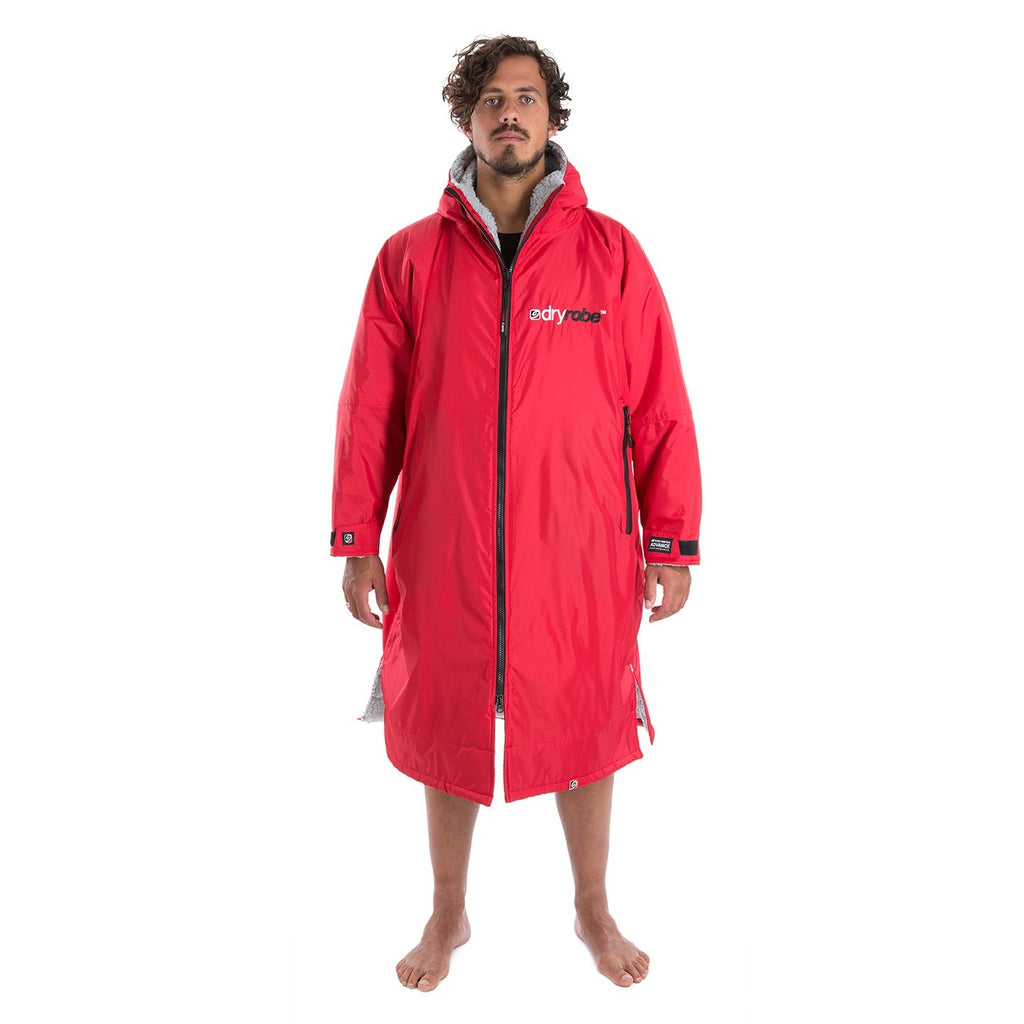 Dryrobe Dryrobe Advance Long Sleeve Changing Robe | Red & Grey - TVSC