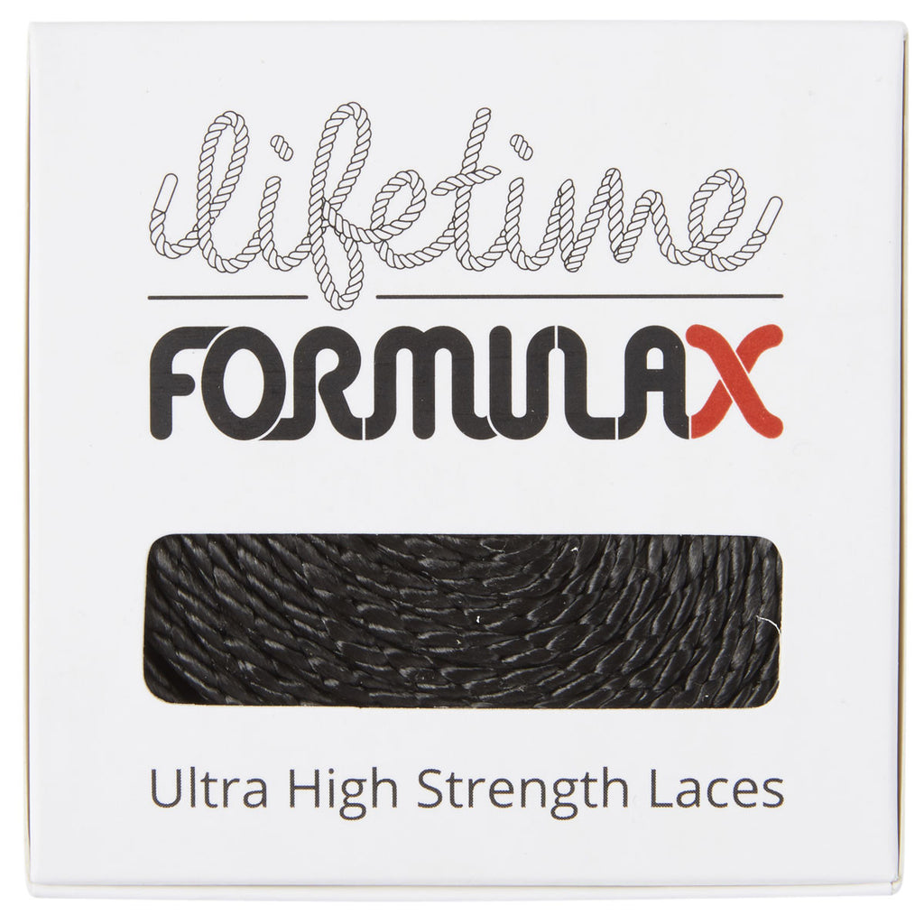 Lifetime Laces Formula X Flat Black - TVSC