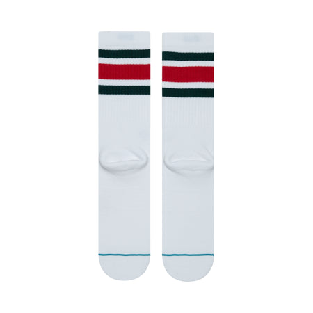 Stance Boyd 4 Socks | White & Red - TVSC