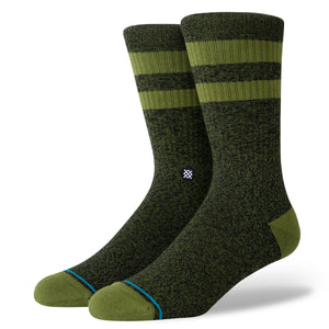 Stance Socks Joven Classic Crew Sock | Green & Black