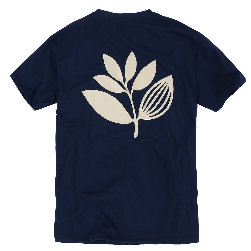 Magenta Classic Plant T-Shirt | Navy Blue