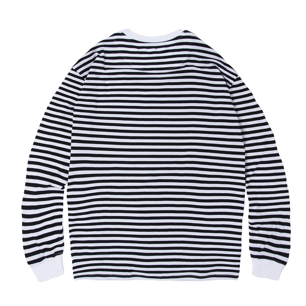 Magenta Mariniere Long Sleeve T-Shirt | Navy & White Stripe