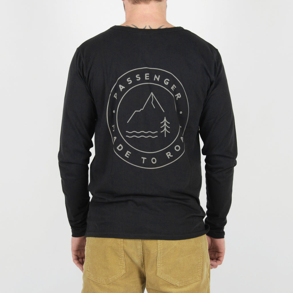 Passenger Clothing Beckoner Long Sleeve T-Shirt | Asphalt Grey back