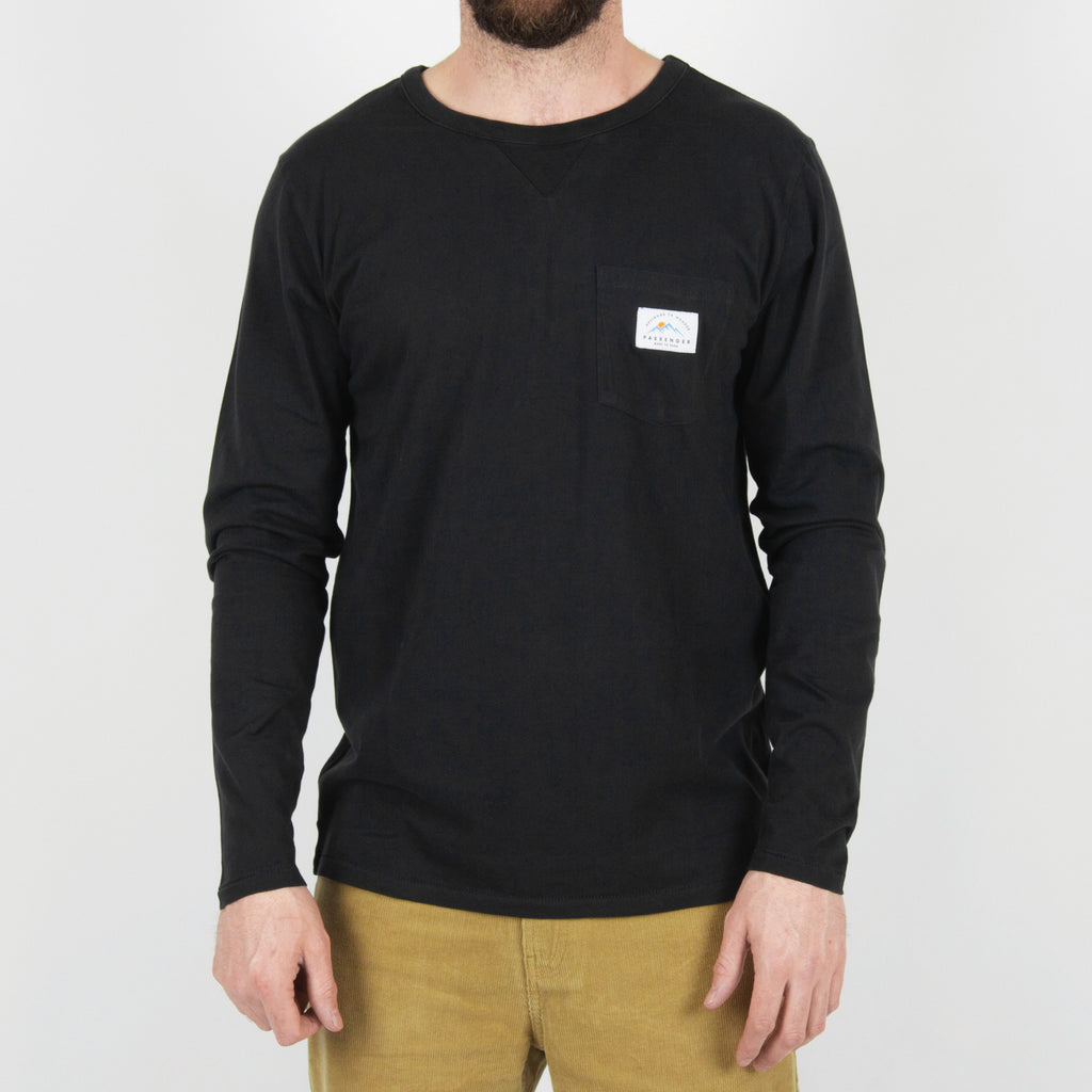 Passenger Clothing Beckoner Long Sleeve T-Shirt | Asphalt Grey front