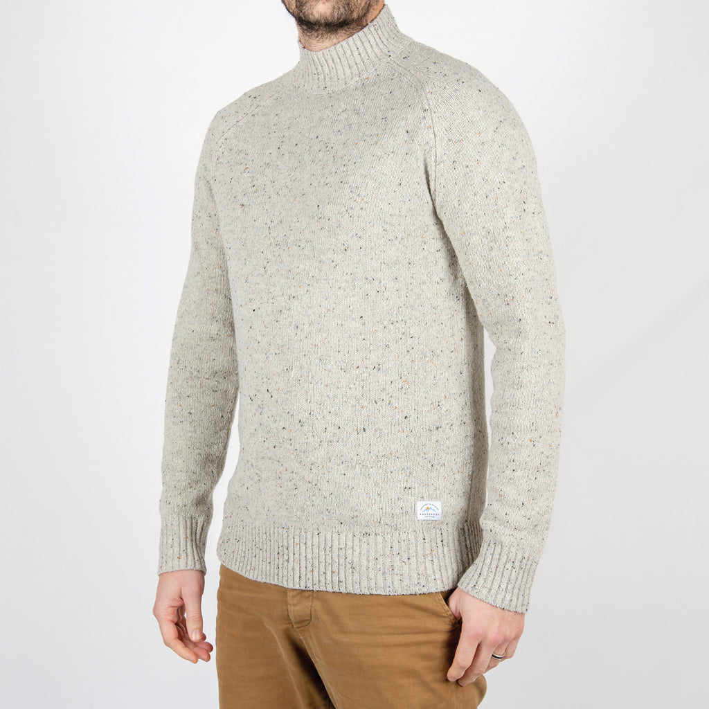 Passenger Clothing Crossing Knitted Sweater | Grey Fleck
