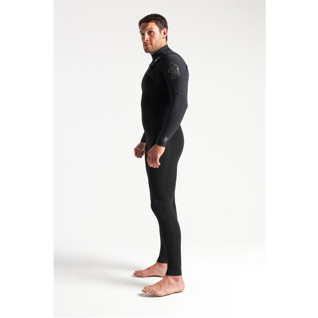 C-Skins C-Skins Legend Mens Back Zip GBS Steamer 3:2 Wetsuit 2020 | Black & Grey - TVSC