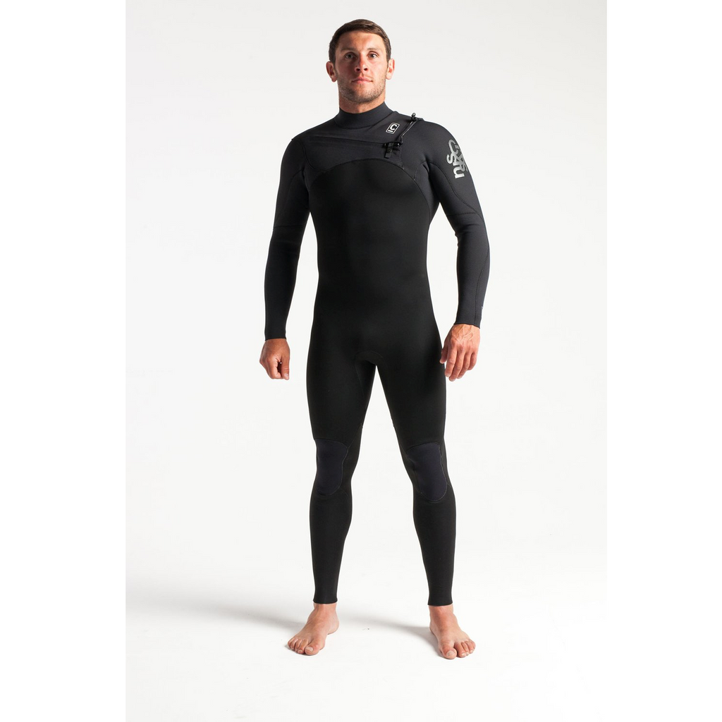 C-Skins C-Skins Session Mens Chest Zip GBS Steamer 3:2 Wetsuit 2020 | Black - TVSC
