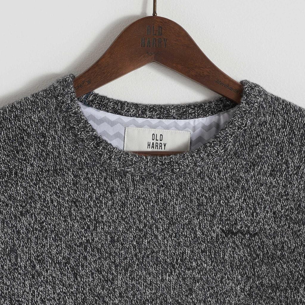 Old Harry Lambswool Charcoal - TVSC