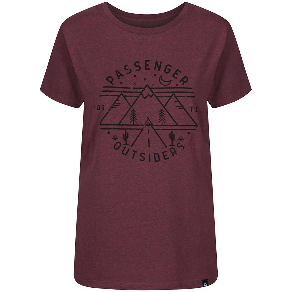 Passenger Women's Outsiders T-Shirt Burgundy - TVSC
