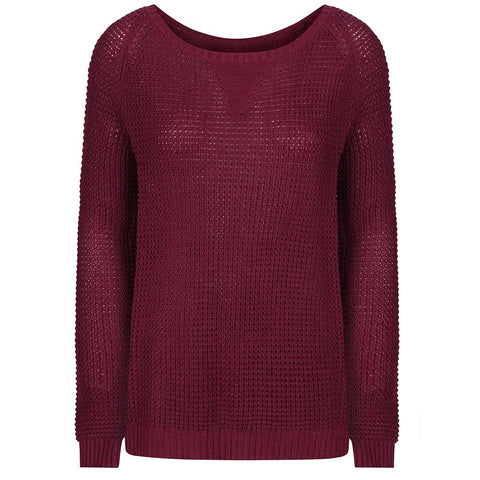 Sway Women's Knitted Jumper Burgundy