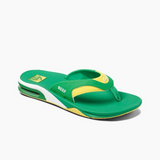 Reef Fanning Flip-Flop | Green & Yellow - TVSC