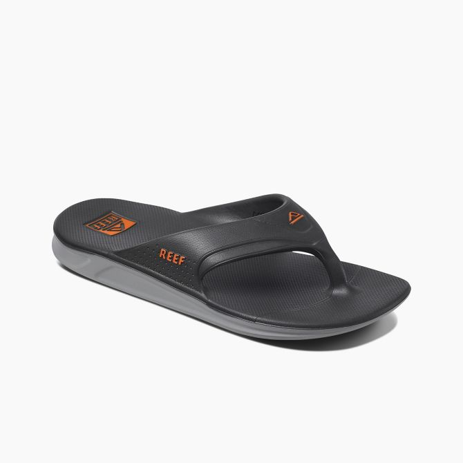 Reef One Flip-Flop | Grey & Orange angle