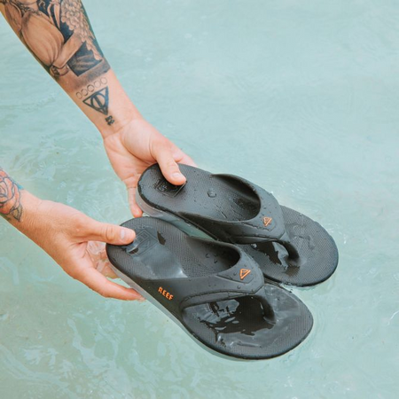 Reef One Flip-Flop | Grey & Orange lifestyle