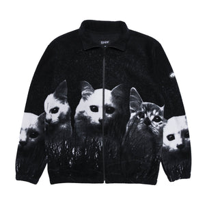 Rip N Dip Majestic Field of Cats Jacket | Black