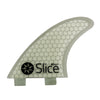Slice Fins Ultra Light Hex Core S3 White - TVSC