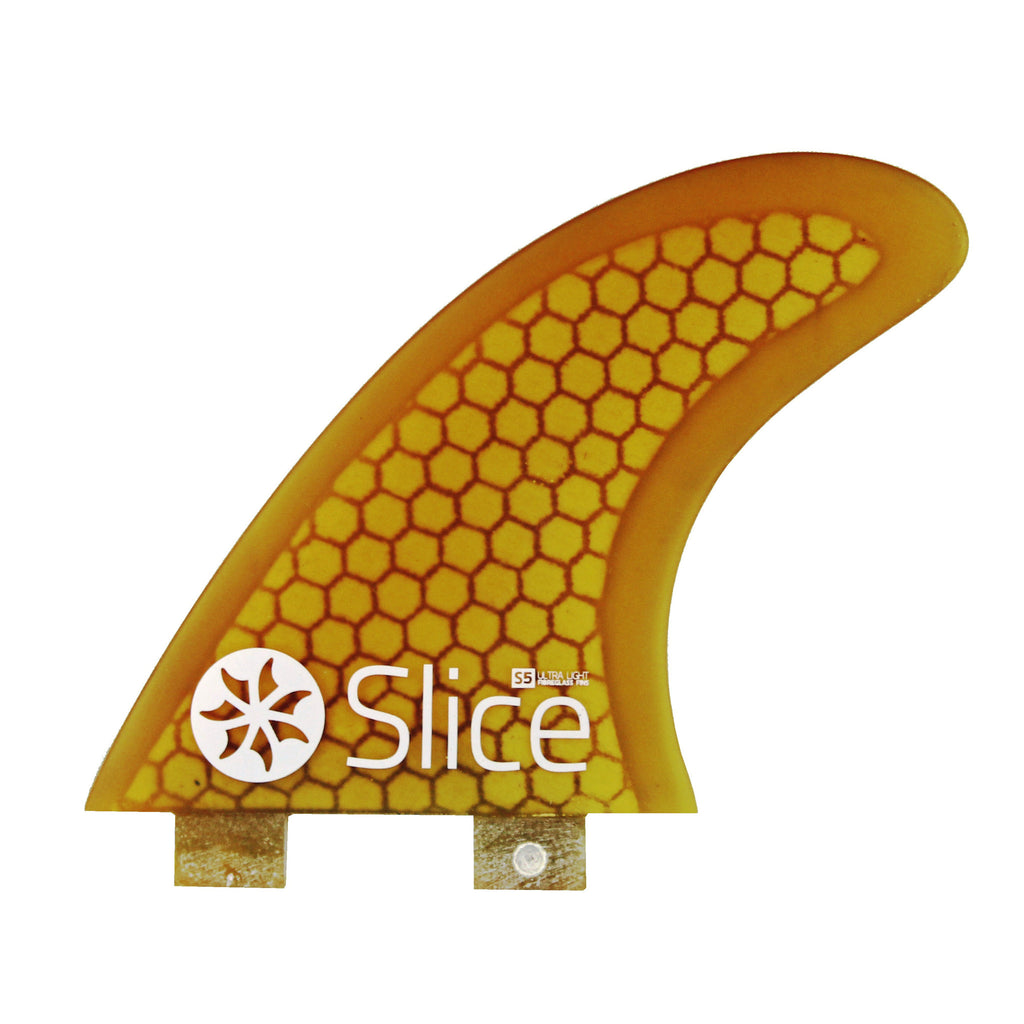 Slice Fins Ultra Light Hex Core S5 Yellow - TVSC