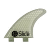Slice Fins Ultra Light Hex Core S7 White - TVSC