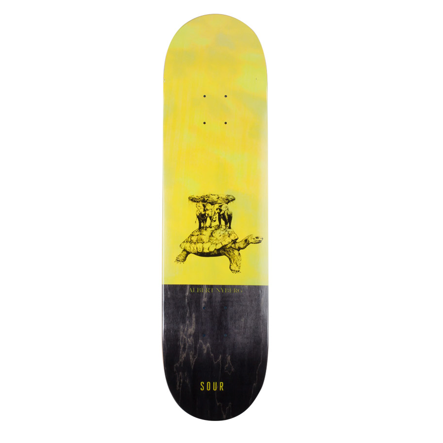 "Sour Solution Sour Solution Albert Sour Turtle Skateboard Deck | 8.25"" - TVSC"