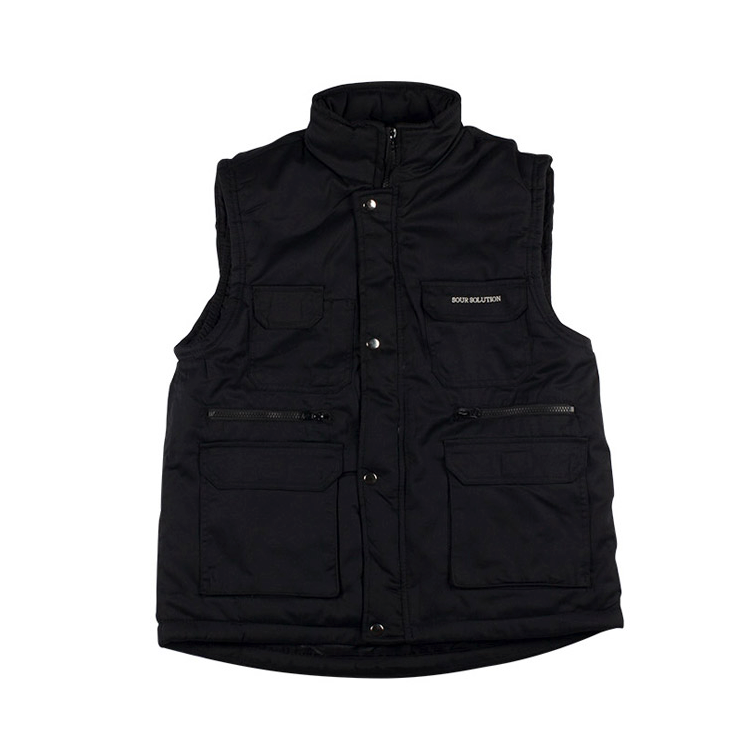 Sour Solution Sour Solution City Safari Vest | Black - TVSC