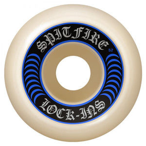 Spitfire Wheels Spitfire Formula Four Lock Ins Skateboard Wheels 99D Blue | Skate Wheels - TVSC