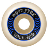 Spitfire Formula Four Lock Ins Skateboard Wheels 99D Blue | 53mm Skate Wheels