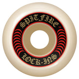 Spitfire Formula Four Lock Ins Skateboard Wheels 101D Red | 52mm Skate Wheels